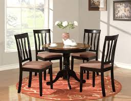 Black Dining Table And Chairs Set Home Furnitures Sets Round Kitchen Table And Chair Sets Round