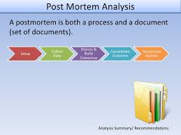 project analysis report template post mortem analysis