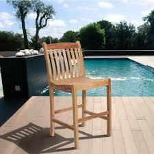 bar stools for outdoor patios amazonia eden solid teak wood patio bar stools 2 set sc 2boma