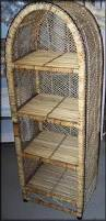 unusual design ideas rattan shelves marvelous decoration wicker