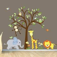 jungle animal wall decals for nursery best ideas on safari peeking