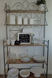 Kitchen Bakers Rack Cabinets by 25 Best Bakers Rack Decorating Ideas On Pinterest Bakers Rack