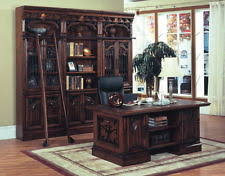 Executive Desk Solid Wood Dark Solid Wood Executive Office Desk Home Chestnut Computer