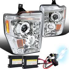 2008 ford f250 tail light bulb 08 10 ford f250 f350 superduty dual halo led projector headlights