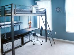 multipurpose furniture for small spaces plentiful black iron finished level beds with office table as