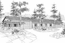 traditional house plans rv garage w living 20 039 associated garage plan 20 039 front elevation