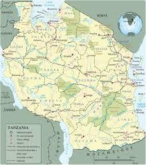 Tanzania Map Tanzania Destinations U2014gofan Safaris And Travel Africa Ltd
