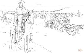 cowboy jobs cattle drive coloring free printable coloring pages