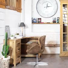 bureau rustique bureau angle bois massif bureau rustique eyebuy
