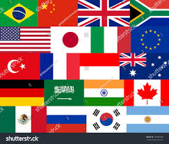 Flags Of Nations Set Flat Vector Flags Entire Group Stock Vector 745487806