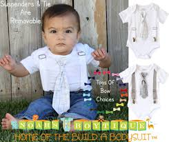 baptism for baby toddler boys cross tie with suspenders