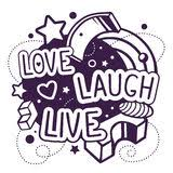 Love Laugh Live Live Laugh Love Vector Stock Vector Image 59283051