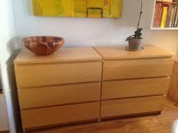 pair of ikea malm 3 drawer dressers birch veneer in hudson