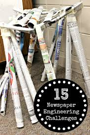 newspaper engineering challenges for kids newspaper spin and
