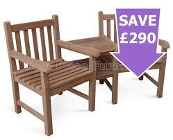 Java Bench Solid Teak Java Companion Set Love Seat Chunky Garden Bench Sale
