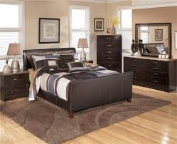 Upholstered Bedroom Sets Signature Design By Ashley Stanwick Queen Faux Leather Upholstered