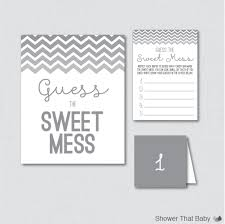 gray baby shower diaper candy bar game printable guess the