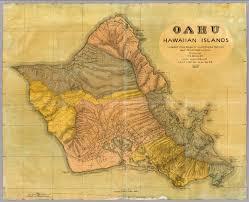 Blank Map Of Hawaiian Islands by Oahu Hawaiian Islands David Rumsey Historical Map Collection