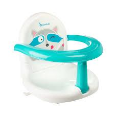siege de bain pour bebe fauteuil de bain pliable badabulle bébé garçon blanc bleu
