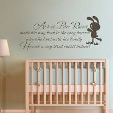 Baby Room Decals Wall Quote Peter Rabbit Baby Nursery Bedroom Kids Room Wall Decal