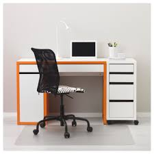 White Wooden Computer Desk Tremendous Workspace Home Ikea Interior Design Show Fascinating