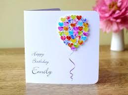 personalised birthday balloons handmade 3d birthday card personalised colourful balloons