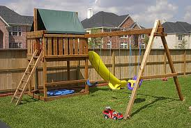 Backyard Playground Plans by Wooden Swing Set Plans If Someone Desire To Learn About Wood