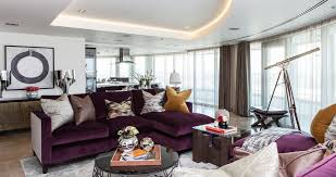 living room with purple sofa pretty choice designs ideas decors