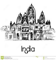 iskcon temple delhi stock vector image 63885324