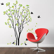 compare prices on orange wall stickers online shopping buy low 1pcs my lime orange tree flying birds aorund removable pvc wall stickers creative home decoration beautiful