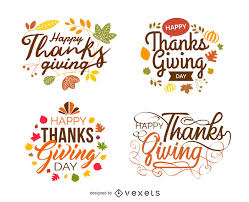 thanksgiving labels isolated thanksgiving festive labels vector