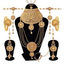 bridal necklace set gold images Rajwadi gold plated lct diamond kundan wedding wear bridal jpg