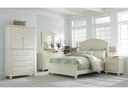 broyhill furniture seabrooke panel bed with arched louvered