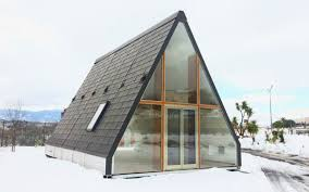 a frame house m a di modular a frame homes can unfold in 6 hours insidehook