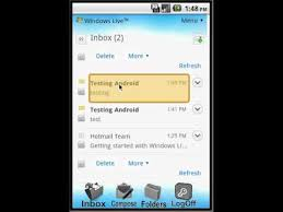 hotmail app for android windows live hotmail android app