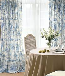 Blue Toile Curtains Toile In Blue D Sweet Sighhhh I Want It Is An Aqua Blue Green