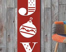 Joy Christmas Decorations Outdoor by Large Joy Sign Etsy