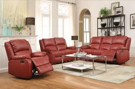 Motion Living Room Furniture Zuriel Red Sofa And Love Seat 52150