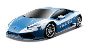 Lamborghini Huracan Blue - amazon com maisto r c 1 24 lamborghini huracán polizia radio