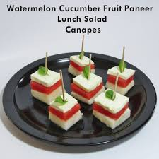 canapes fruit boni s healthy twists watermelon cucumber fruit paneer lunch salad