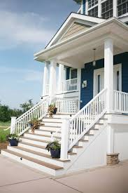 front porch stair entry traditional with handrail panel front doors