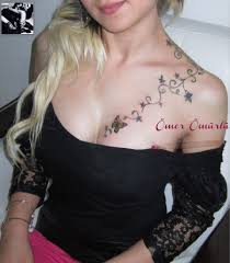 female chest quote tattoos female chest tattoos breast tattoo a photo on flickriver