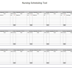 best photos of nursing schedule template excel free nurse