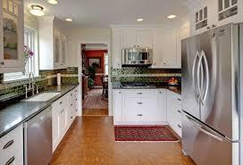 kitchen cork floor types overview small design ideas