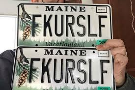 Maine Vanity License Plates You Won U0027t Need To Squint To Understand The Message On This Maine