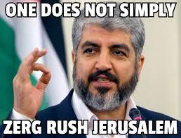 Zerg Rush Meme - kikes doing airstrikes in gaza and shooting protesters globo