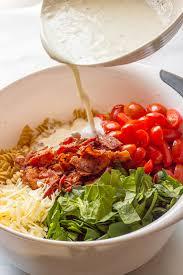 Easy Main Dish - creamy blt pasta salad i wash you dry