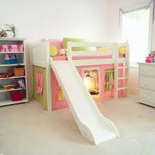 kids girls beds bedroom sweet pink girls loft bed with drawers and trundle for