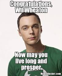 Congratulations Meme - congratulations wil wheaton create your own meme