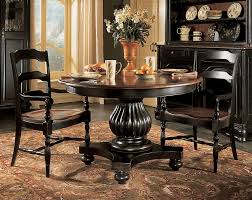 round dark wood pedestal dining table dining room top notch small dining room decoration using round